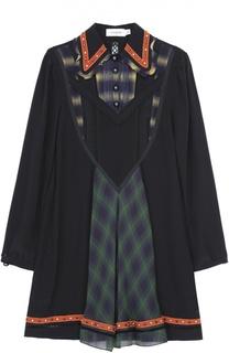 Мини-платье свободного кроя с принтом Coach