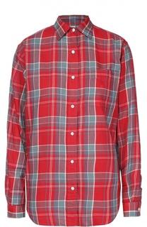 Блуза в клетку прямого кроя с накладным карманом Denim&Supply by Ralph Lauren