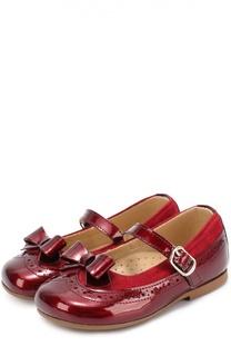 Комбинированные туфли с бантом Clarys