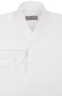 Хлопковая сорочка с итальянским воротником Canali
