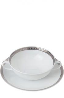 Пиала для супа с блюдцем Malmaison Christofle
