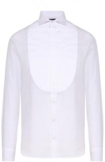 Удлиненная хлопковая блуза с планкой Polo Ralph Lauren