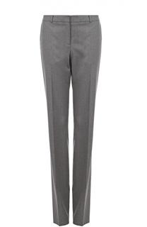Шерстяные брюки прямого кроя со стрелками HUGO