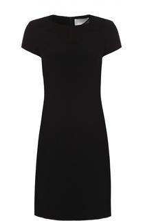 Приталенное платье с коротким рукавом и полупрозрачной вставкой HUGO