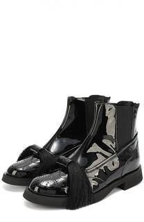 Лаковые ботинки с бантом Aleksandersiradekian