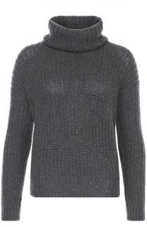 Кашемировый свитер фактурной вязки с высоким воротником Loro Piana