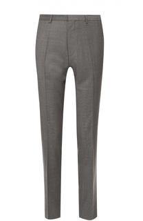 Шерстяные брюки прямого кроя HUGO