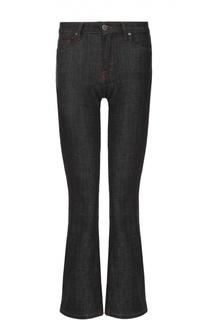 Укороченные расклешенные джинсы с контрастной прострочкой Victoria by Victoria Beckham