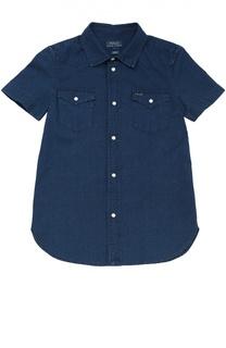 Джинсовая рубашка с короткими рукавами Polo Ralph Lauren