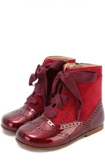 Комбинированные ботинки с брогированием Clarys