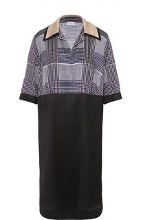 Платье-рубашка прямого кроя с укороченным рукавом Dries Van Noten