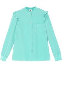 Шелковая блуза прямого кроя с оборками M Missoni
