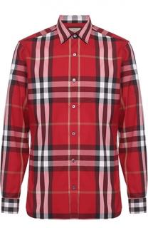 Рубашка из эластичного хлопка с воротником кент Burberry Brit