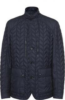 Утепленная стеганая куртка с воротником-стойкой Belstaff