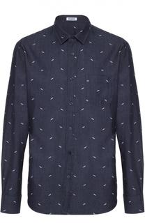 Джинсовая рубашка с принтом Dirk Bikkembergs
