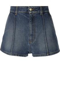 Джинсовые мини-шорты с завышенной талией Alexander McQueen