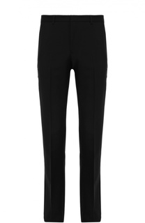 Шерстяные брюки прямого кроя с нашивками Givenchy