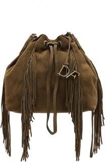 Замшевая сумка Voyage Boho с бахромой Diane Von Furstenberg