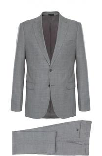Шерстяной костюм с мелким узором Armani Collezioni