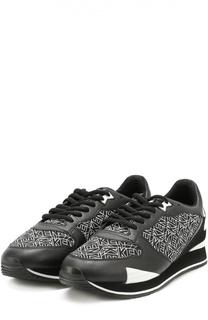Комбинированные кроссовки с принтом Kenzo