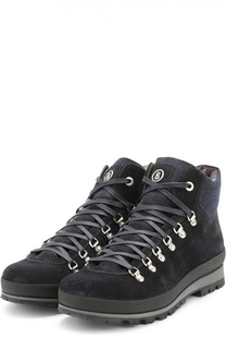 Замшевые ботинки с отделкой из текстиля Bogner