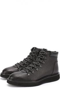 Кожаные ботинки с тиснением Hogan