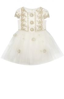 Платье с декором David Charles