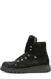 Замшевые ботинки Egide  с внутренней меховой отделкой Moncler