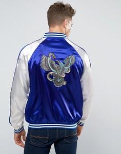 Куртка-пилот с вышивкой орла и змеи Liquor & Poker - Черный