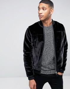 Меховая куртка-пилот Barneys Premium - Черный Barneys Originals