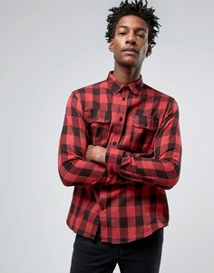 Troy Flannel Lumberjack Slim Fit Shirt - Черный