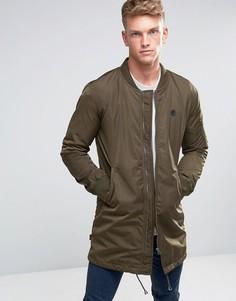 Удлиненная куртка-пилот Le Breve - Зеленый