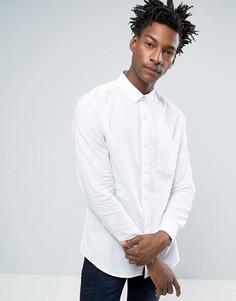 Оксфордская узкая рубашка с карманом Troy - Белый