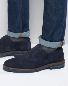 Rule London Suede Brogues - Синий
