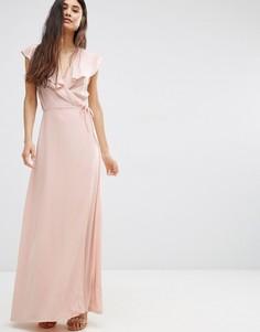 Платье макси с запахом Oh My Love - Розовый
