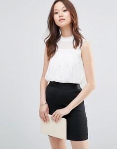 Платье мини 2 в 1 с высокой горловиной Girl In Mind Evie - Черный