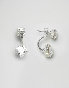 Серьги с кристаллами Swarovski от Krystal - Серебряный