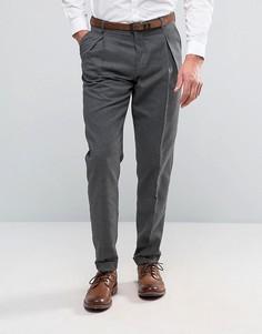 Узкие строгие брюки Selected Homme - Серый