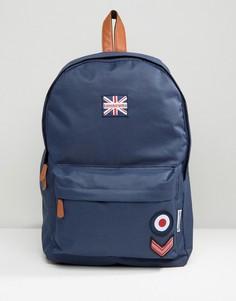 Темно-синий рюкзак в стиле милитари с нашивками Lambretta - Темно-синий