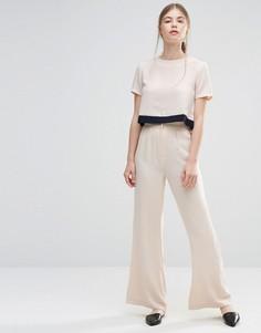 Брюки с широкими брюками и высокой талией Unique 21 - Кремовый