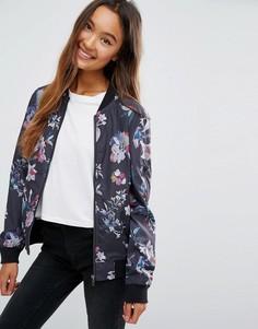 Куртка-пилот с цветочным принтом JDY - Мульти