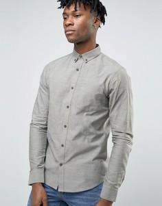 Оксфордская узкая рубашка с карманом Troy - Зеленый