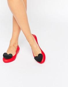 Балетки с 3D сердечком Zaxy - Красный