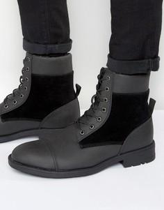 Ботинки с подкладкой из искусственного меха D-Struct - Черный