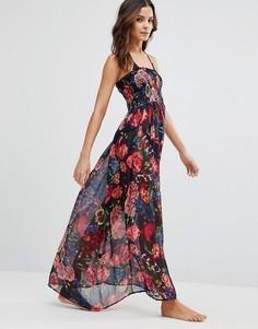 Пляжное платье макси Pia Rossini Perla - Темно-синий