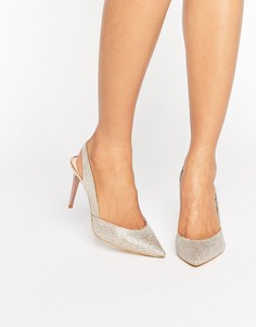 Золотистые туфли на каблуке с заостренным носком Carvela Acorn - Золотой