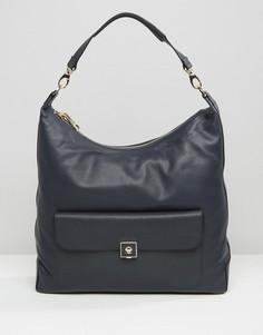 Кожаная сумка на плечо Modalu Hobo - Темно-синий