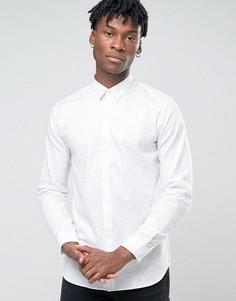 Рубашка узкого кроя в крапинку Jack & Jones Premium - Белый