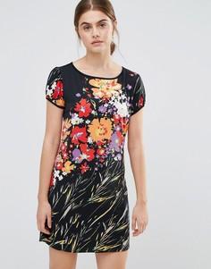 Платье с цветочным принтом Jasmine - Черный