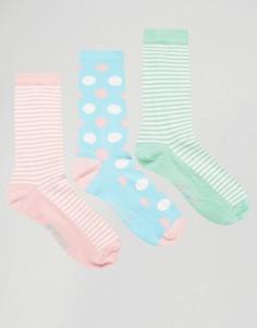 Набор из 3 пар носков в полоску и с принтом Penguin - Мульти
